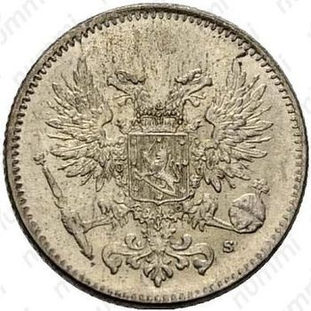50 пенни 1917, S, гербовый орёл без корон - Аверс