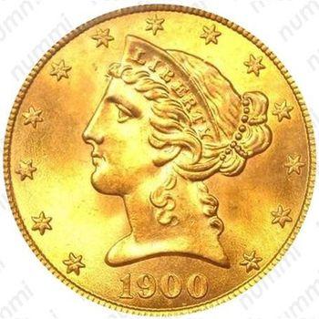 5 долларов 1900, голова Свободы