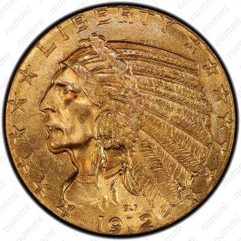5 долларов 1912, голова индейца