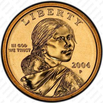 1 доллар 2004, Сакагавея - Аверс