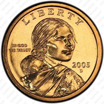 1 доллар 2005, Сакагавея - Аверс