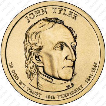 1 доллар 2009, Джон Тайлер - Аверс