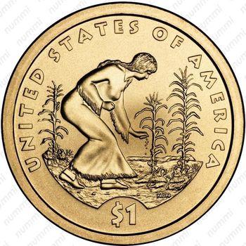 1 доллар 2009, Сакагавея - Реверс