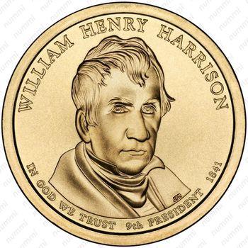 1 доллар 2009, Уильям Гаррисон - Аверс