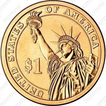 1 доллар 2011, Эндрю Джонсон - Реверс