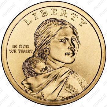 1 доллар 2011, Сакагавея - Аверс