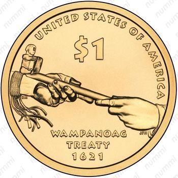 1 доллар 2011, Сакагавея - Реверс