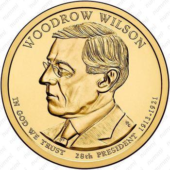 1 доллар 2013, Вудро Вильсон - Аверс