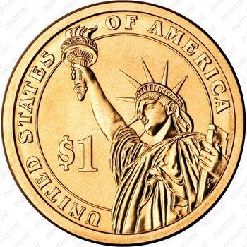 1 доллар 2013, Вудро Вильсон - Реверс