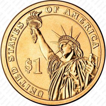 1 доллар 2015, Гарри Трумен - Реверс