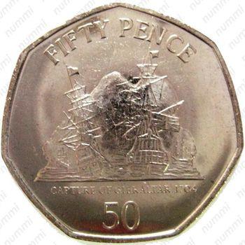 50 пенсов 2010, захват Гибралтара