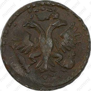 денга 1731, розетка из 4 лепестков - Аверс