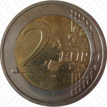 2 евро 2008, права человека (Бельгия) - Реверс