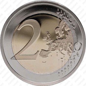 2 евро 2012, 10 лет наличного евро (Кипр) - Реверс