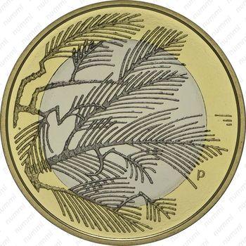 5 евро 2014, дикая природа - Реверс