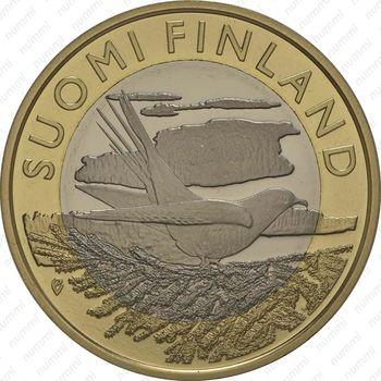 5 евро 2014, кукушка - Аверс