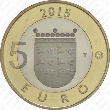 5 евро 2015, горностай - Аверс