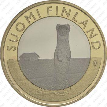 5 евро 2015, горностай - Реверс