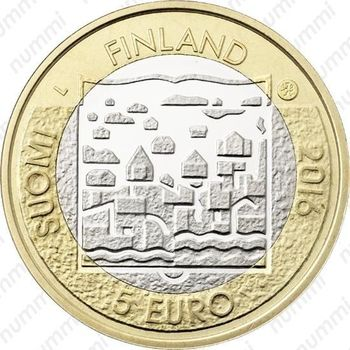 5 евро 2016, Лаури Кристиан Реландер - Аверс