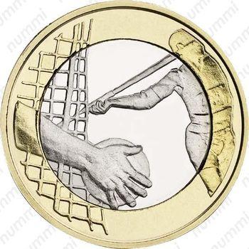 5 евро 2016, легкая атлетика - Реверс