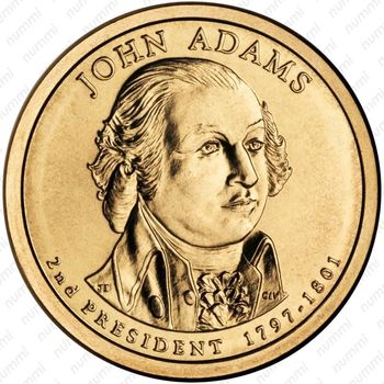 1 доллар 2007, Джон Адамс - Аверс