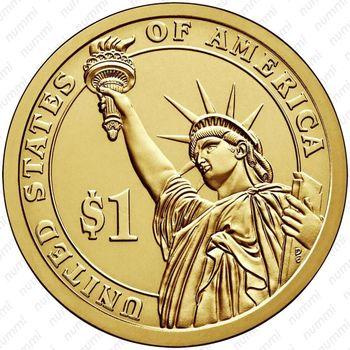 1 доллар 2007, Джон Адамс - Реверс
