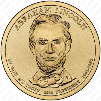 1 доллар 2010, Авраам Линкольн - Аверс