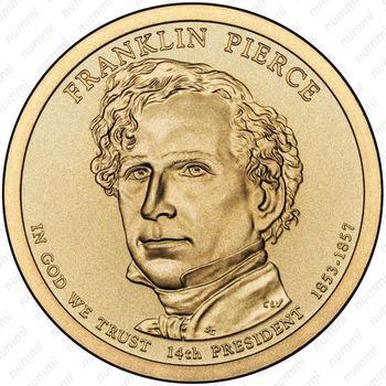1 доллар 2010, Франклин Пирс - Аверс