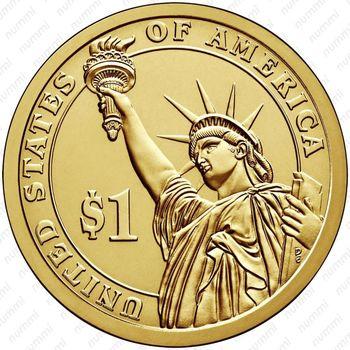 1 доллар 2010, Франклин Пирс - Реверс