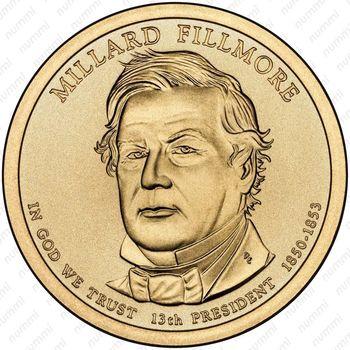 1 доллар 2010, Миллард Филлмор - Аверс