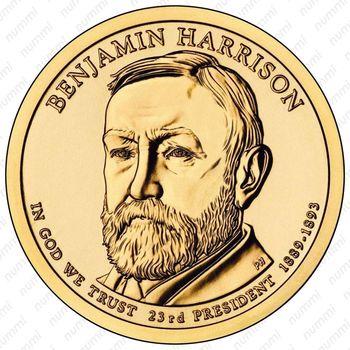 1 доллар 2012, Бенджамин Гаррисон - Аверс