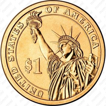 1 доллар 2012, Честер Артур - Реверс