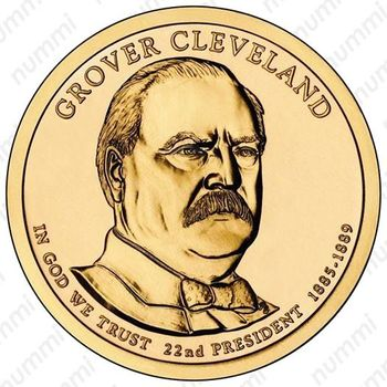 1 доллар 2012, Гровер Кливленд - Аверс