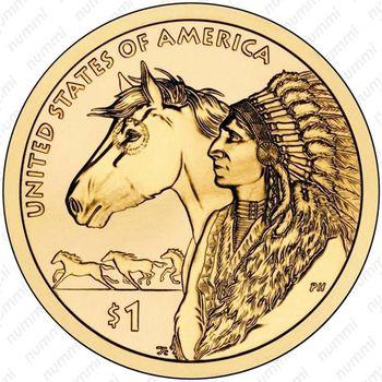 1 доллар 2012, Сакагавея - Реверс