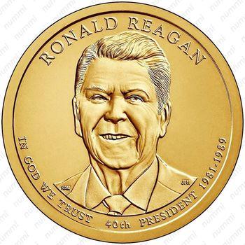 1 доллар 2016, Рональд Рейган - Аверс