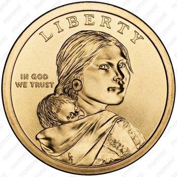 1 доллар 2016, Сакагавея - Аверс