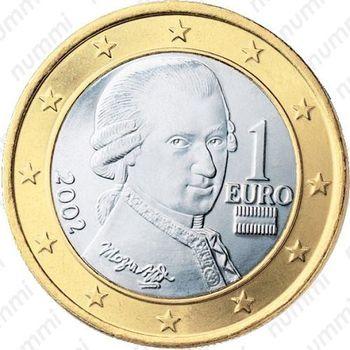 1 евро 2002, регулярный чекан Австрии - Аверс