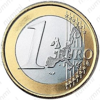 1 евро 2002, регулярный чекан Австрии - Реверс