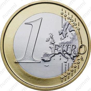 1 евро 2009, регулярный чекан Греции - Реверс