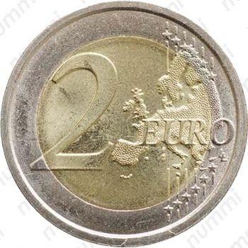 2 евро 2008, права человека (Италия) - Реверс