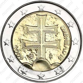 2 евро 2009, регулярный чекан Словакии - Аверс