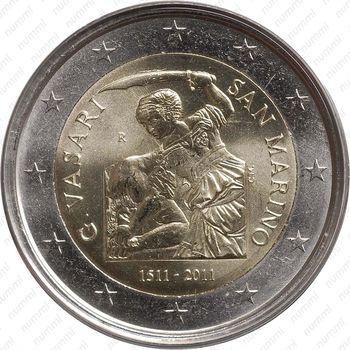 2 евро 2011, Джорджо Вазари - Аверс