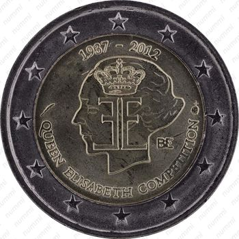 2 евро 2012, конкурс королевы Елизаветы - Аверс