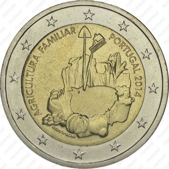 2 евро 2014, фермерские хозяйства - Аверс
