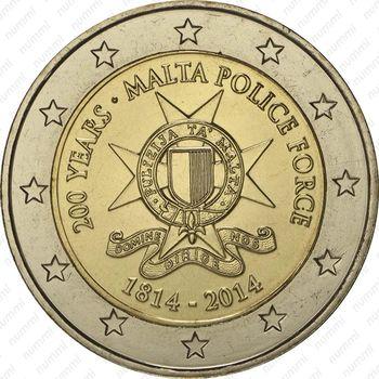 2 евро 2014, полиция Мальты - Аверс
