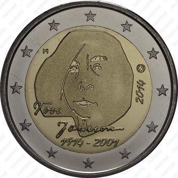 2 евро 2014, Туве Янссон - Аверс