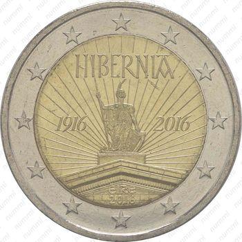 2 евро 2016, Пасхальное восстание - Аверс