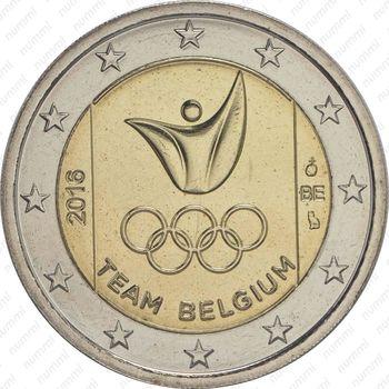 2 евро 2016, Сборная Бельгии в Рио-де-Жанейро - Аверс