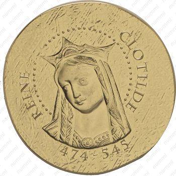 50 евро 2016, королева Клотильда