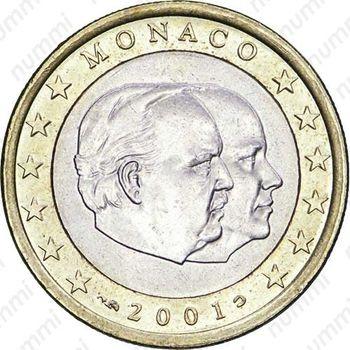 1 евро 2001 - Аверс